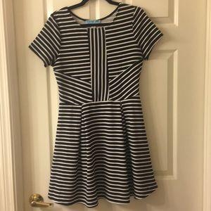 Striped Fit & Flare Dress